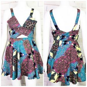 Nasty Gal Paisley Print Fit and Flare Dress